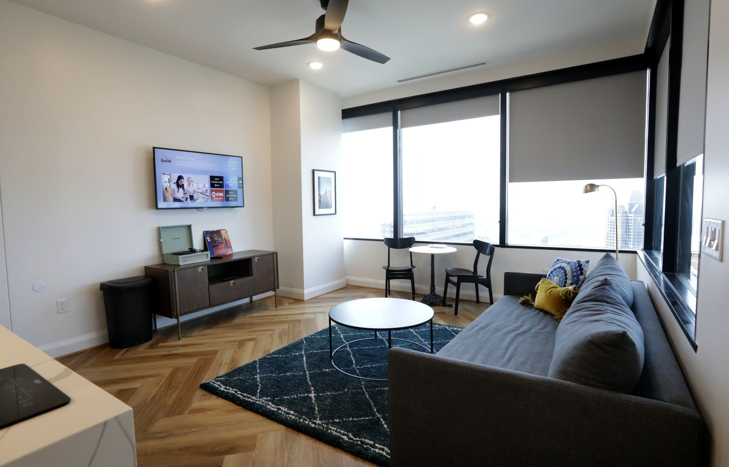 One of the rooms at The Guild in Santander Tower in downtown Dallas.  (Jason Janik/Special Contributor)
