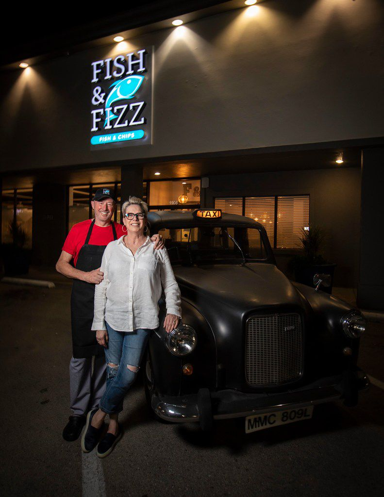 Nick Barclay (left), chef and owner, with his wife, Kelli Barclay, at Fish & Fizz.