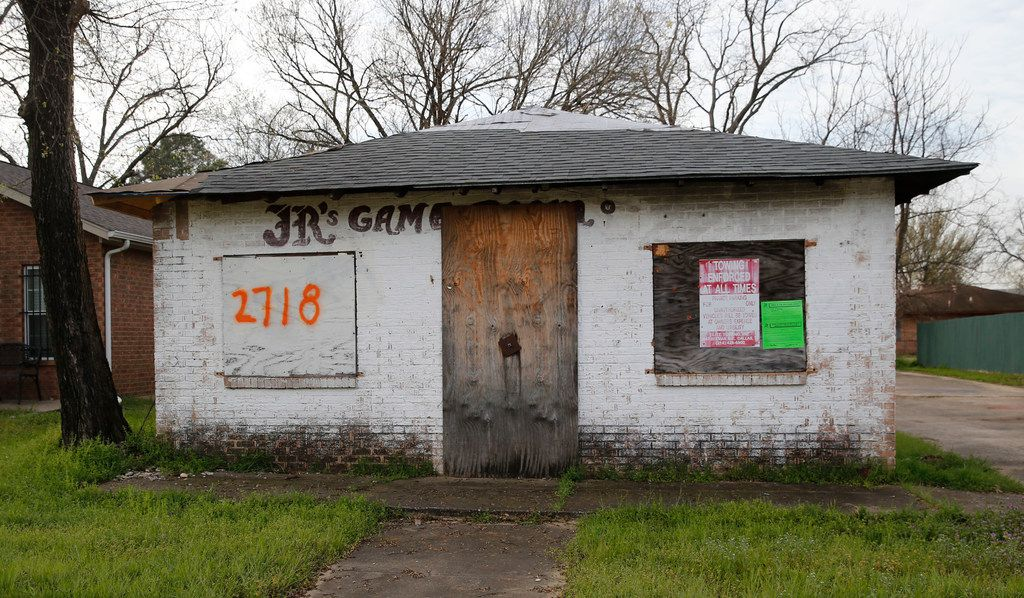 """Code officials have slapped an """"open structure violation"""" on the old JR's Game Room on Silkwood Street in Bonton."""
