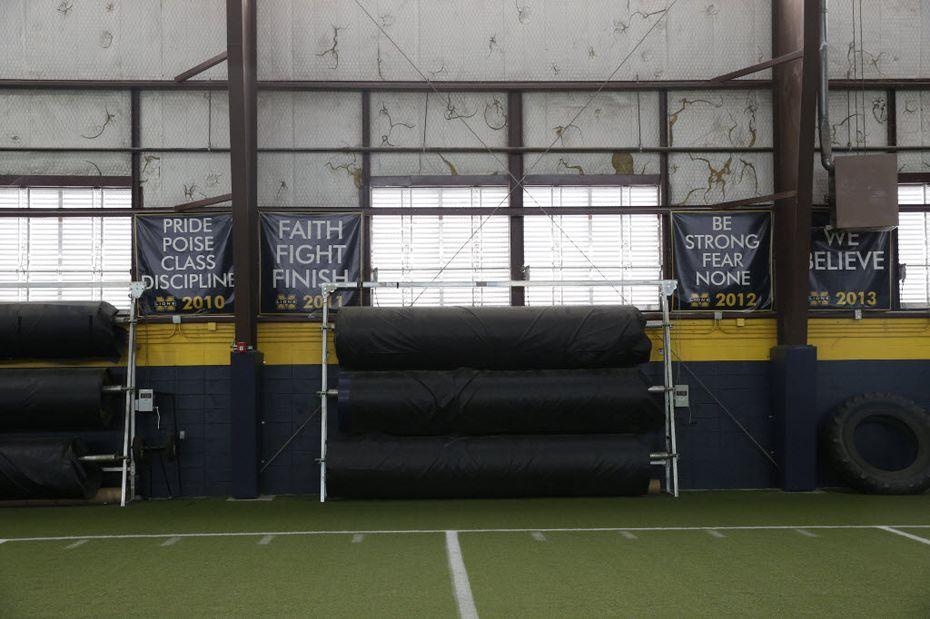 McKinney High School's indoor practice facilities in McKinney, Texas on Aug. 9, 2016.  (Nathan Hunsinger/The Dallas Morning News)