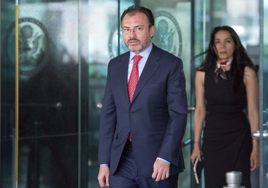 Mexican Foreign Secretary Luis Videgaray Caso met with U.S. Secretary of State Rex Tillerson on Wednesday. The U.S. is in the midst of renegotiating the North American Free Trade Agreement with Mexico and Canada.