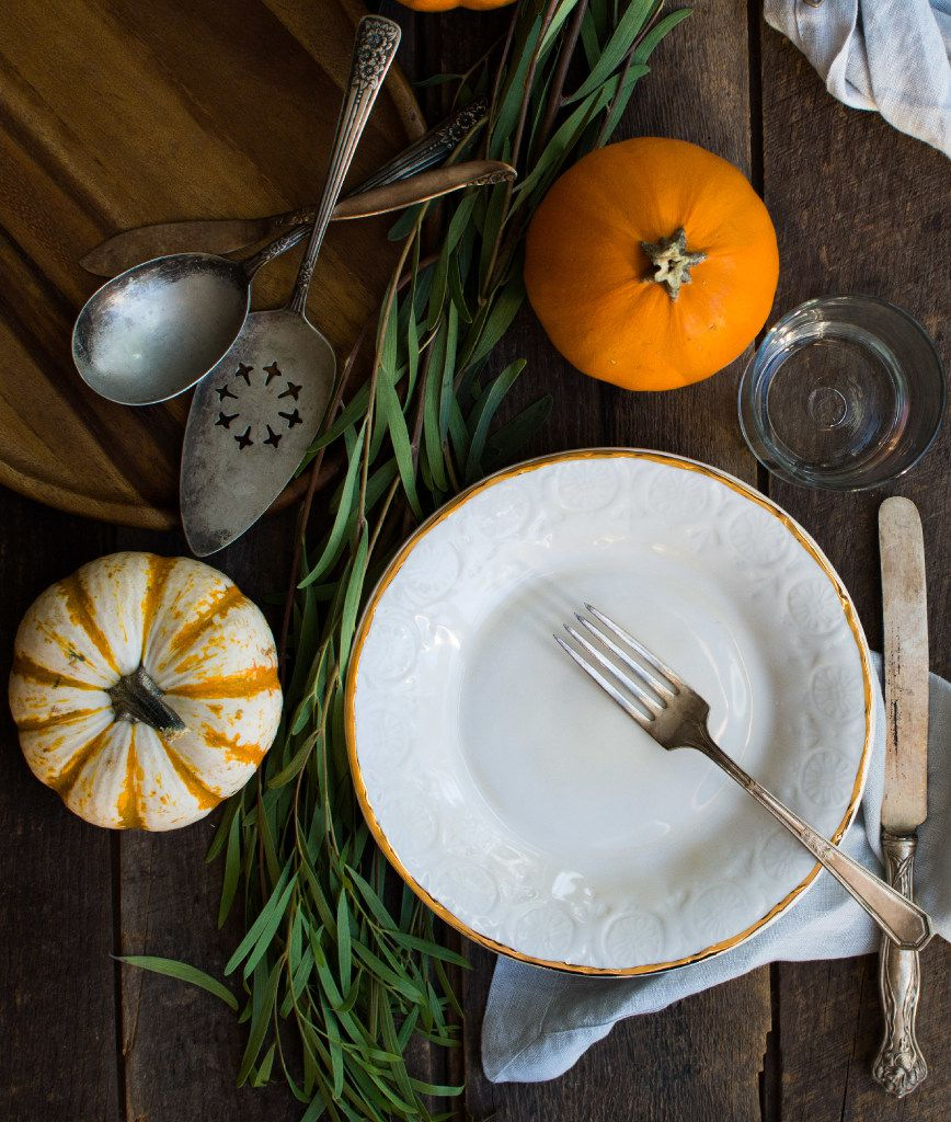 Let your tabletop be a mix of old and new, expensive and inexpensive.
