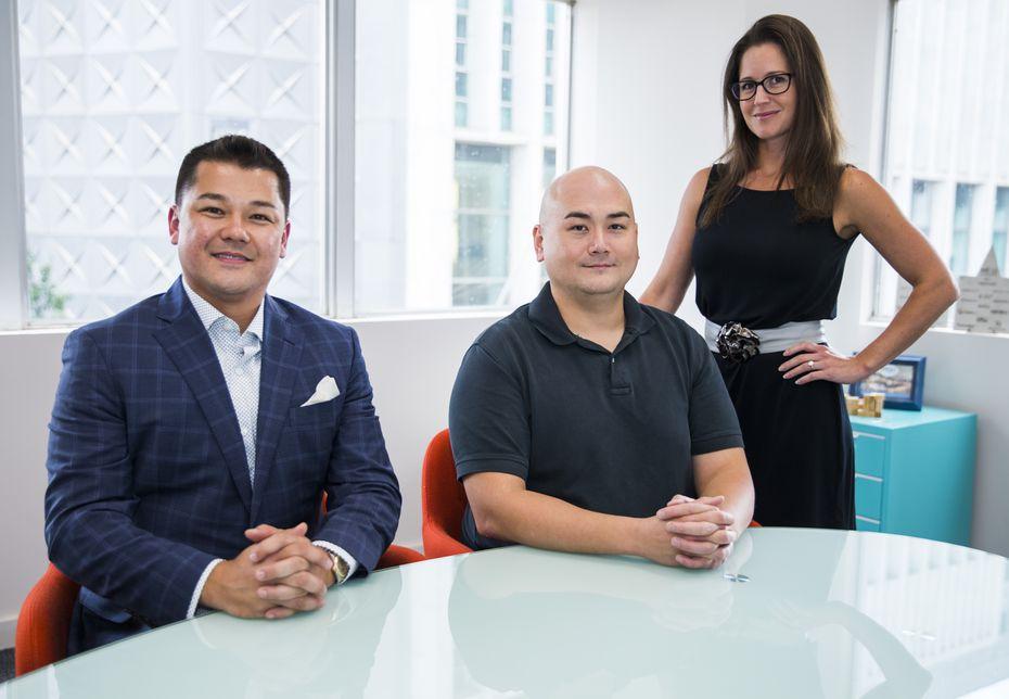 Tech Wildcatters COO Robert Brevelle (far left), project manager Steven Gehfeld and CEO Gabriella Draney Zielke