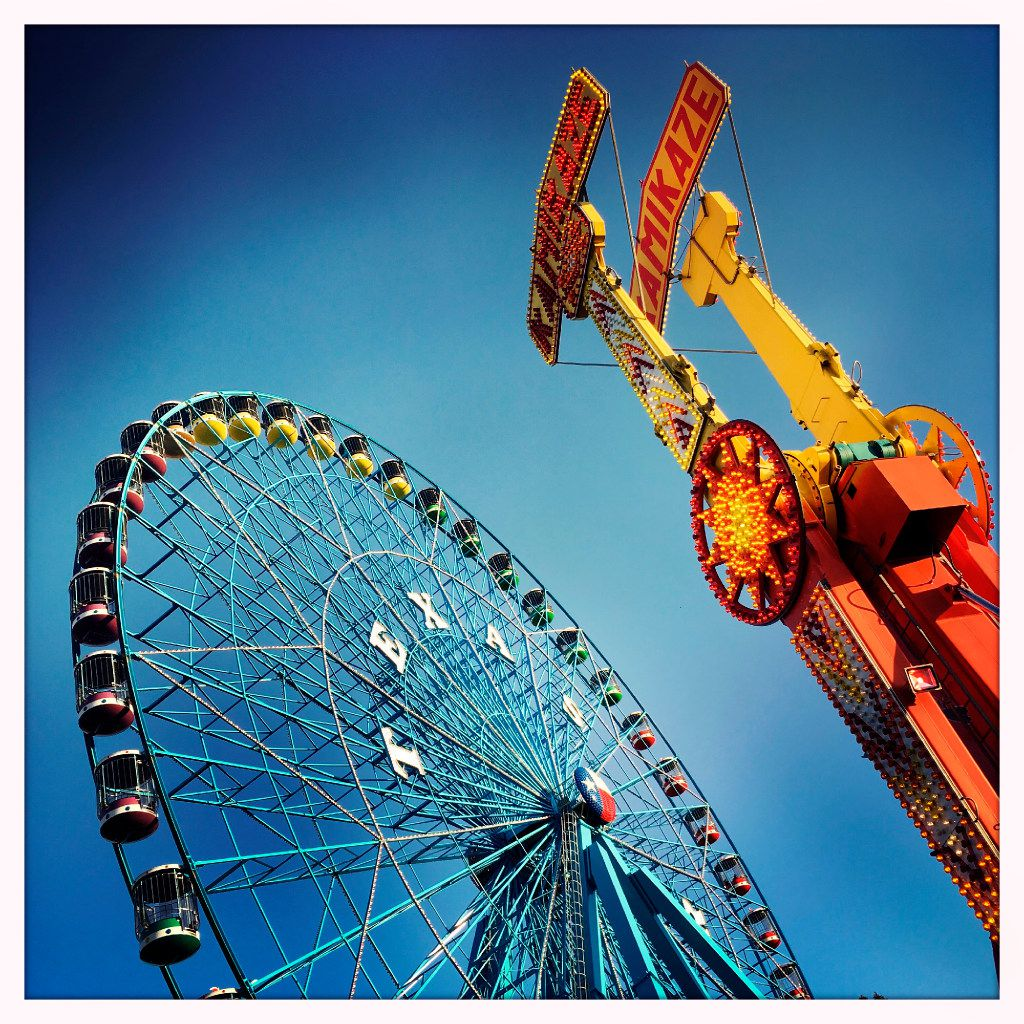 Fairgoers ride the Texas Star ferris wheel during the State Fair of Texas at Fair Park in Dallas, Monday, October 17, 2016. (Tom Fox/The Dallas Morning News)