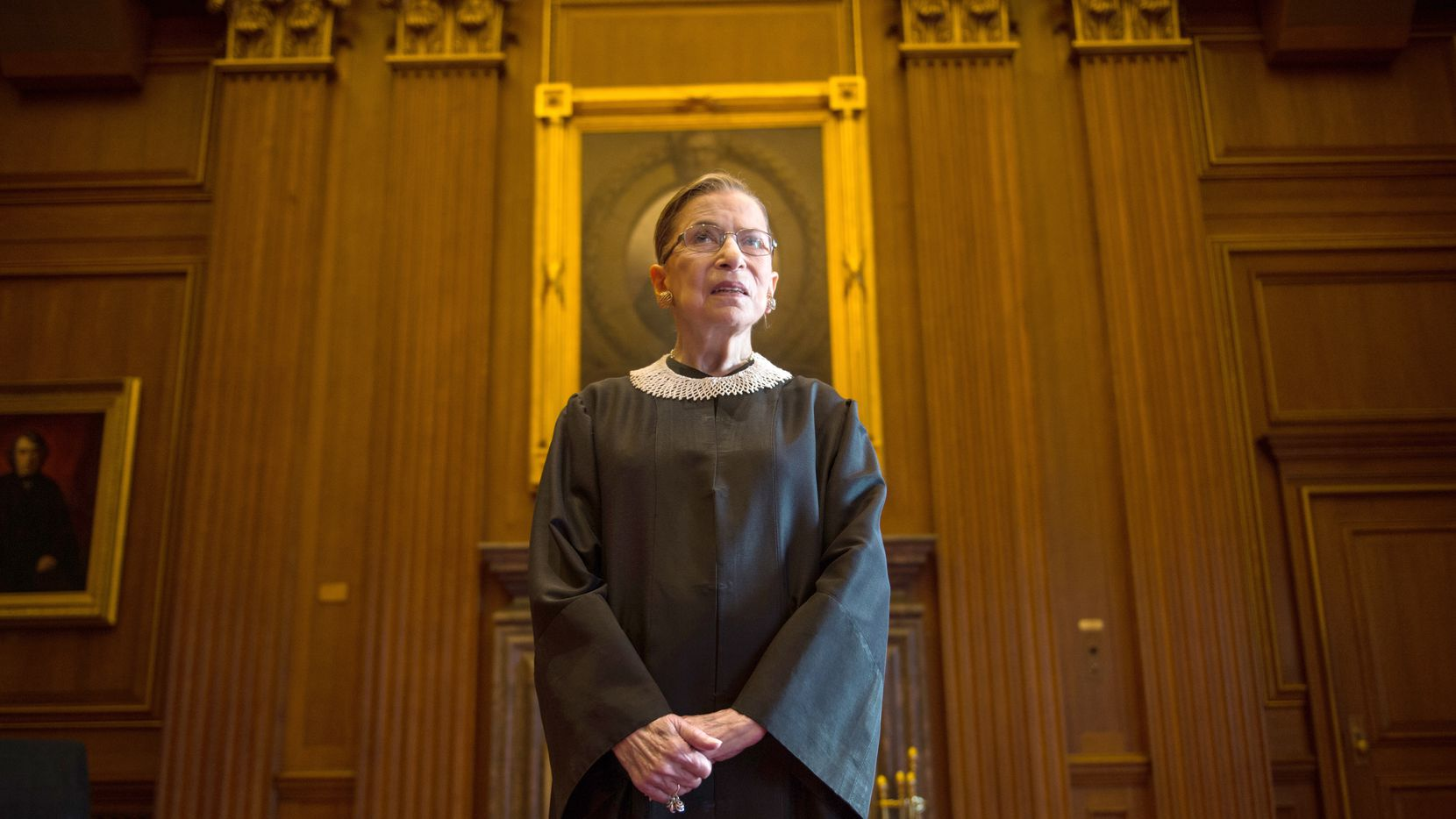 Supreme Court Justice Ruth Bader Ginsburg, photographed in the cast conference room at the Supreme Court on Aug. 30, 2013.
