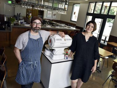 Co-owners Chef David Uygur and Jennifer Uygur at their restaurant Macellaio in the Bishop Arts District of Dallas, Thursday, Aug. 23, 2018. Ben Torres/Special Contributor
