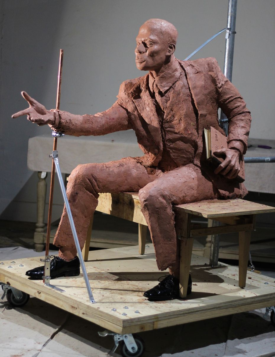 This past summer, the G.W. Jackson Multicultural Society of Corsicana commissioned visual artist and Rhode Island School of Design professor Spencer Evans to create a sculpture of G.W. Jackson, a community leader and the first African-American principal in Corsicana.