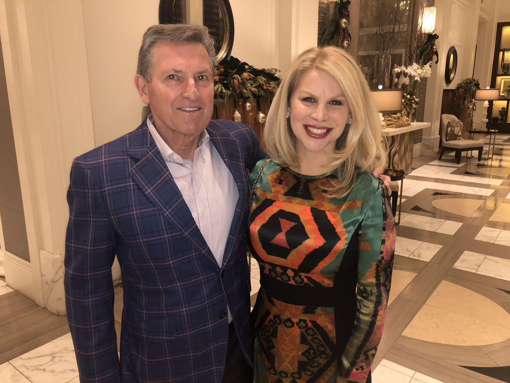 Former Dallas Police Chief David Kunkle and his wife, Sara Dodd, in 2018, prior to his diagnosis of Lewy body dementia.