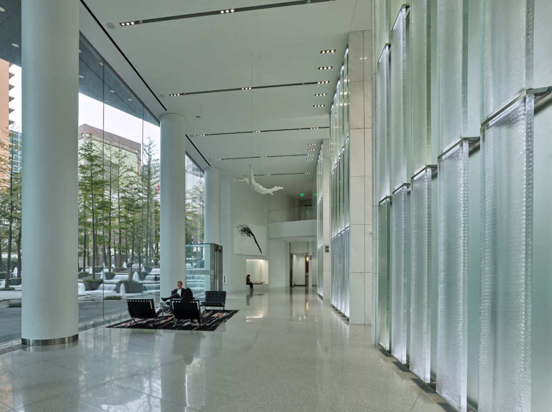 Fountain Place's owners just completed a more than $70 million renovation of the landmark downtown skyscraper.