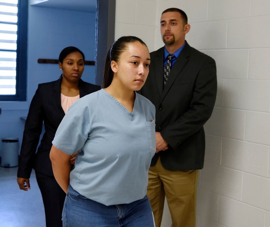 This May 23, 2018, photo shows Cyntoia Brown entering her clemency hearing at the Tennessee Prison for Women in Nashville, Tenn. Gov. Bill Haslam on Jan. 7, 2019, granted executive clemency to Brown, who was serving a life sentence for murder.