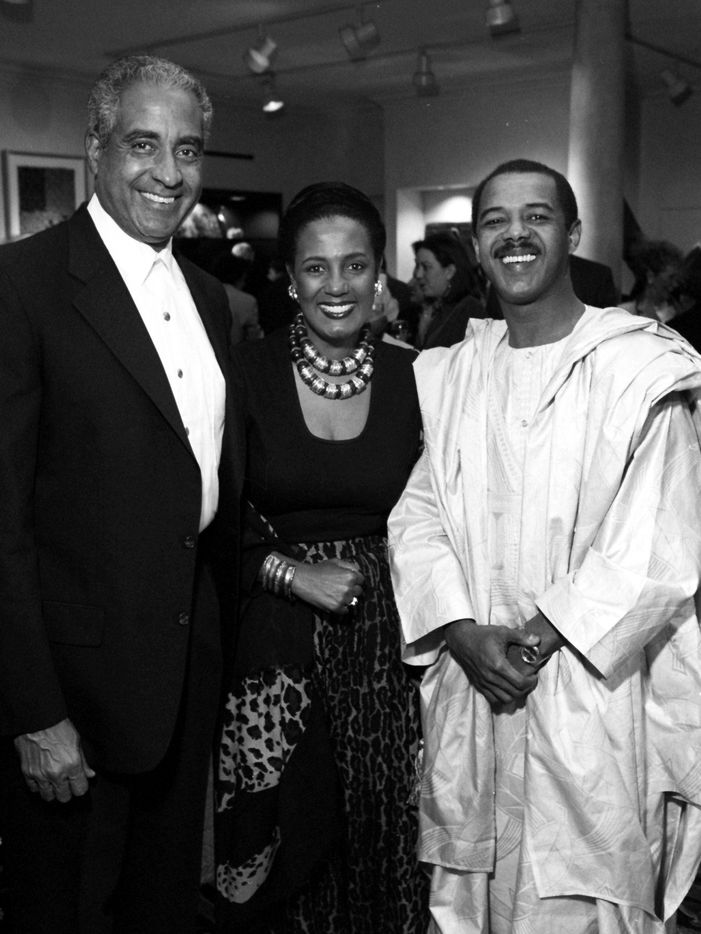Mohamed Toure, right, at the grand opening of his wife's store, Out of Africa, in December 1994.