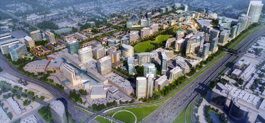 The Dallas Midtown redevelopment includes more than 400 acres on the north side of LBJ Freeway.