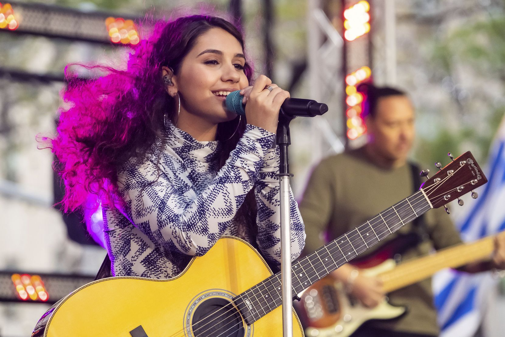 """Alessia Cara performs on NBC's """"Today"""" show at Rockefeller Plaza on Friday, Oct. 11, 2019, in New York."""