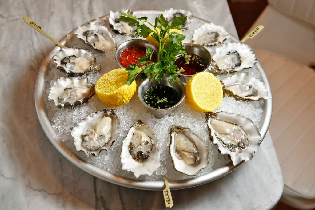 A selection of West Coast oysters at Montlake Cut