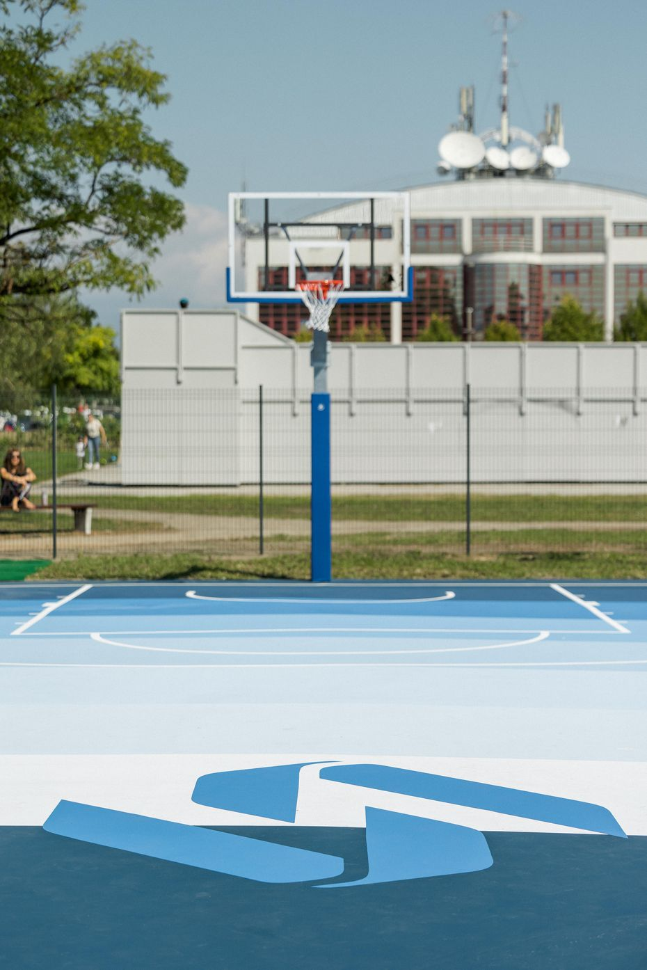 A look at the brand new courts Luka Doncic designed for his home town of Ljubljana, Slovenia. The new courts were part of a charitable effort from Doncic and 2K Foundations, the philanthropic arm of 2K.