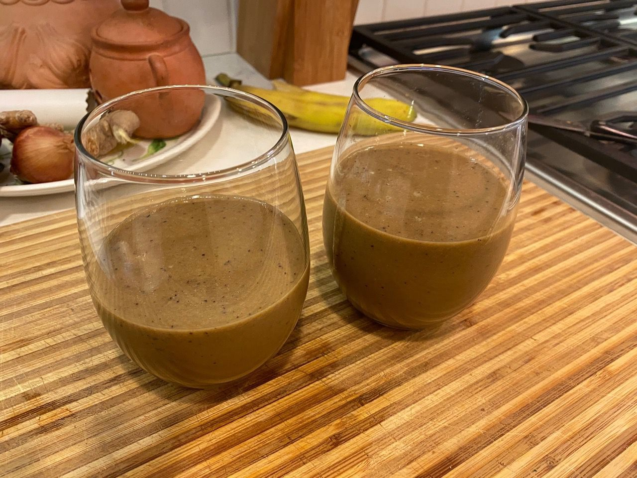 """We call our smoothies """"bullets."""" It's an appropriate word, since these drinks are so quick and easy to make."""