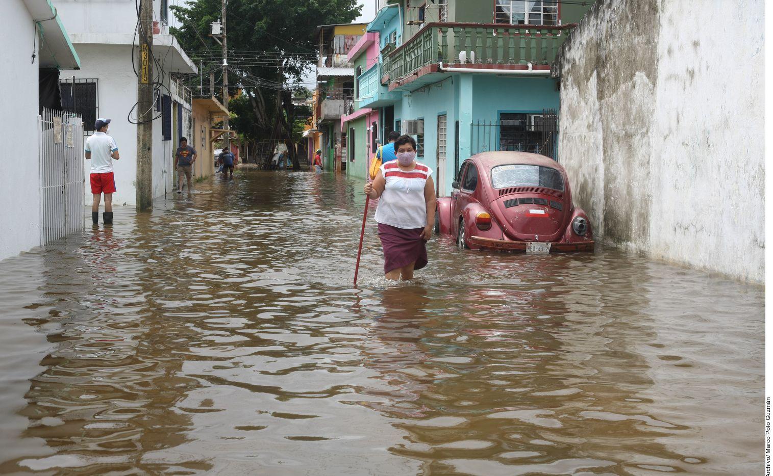 Tres días de intensas precipitaciones se vivieron en Villahermosa, Tabasco, como consecuencia de la tormenta tropical Gamma.