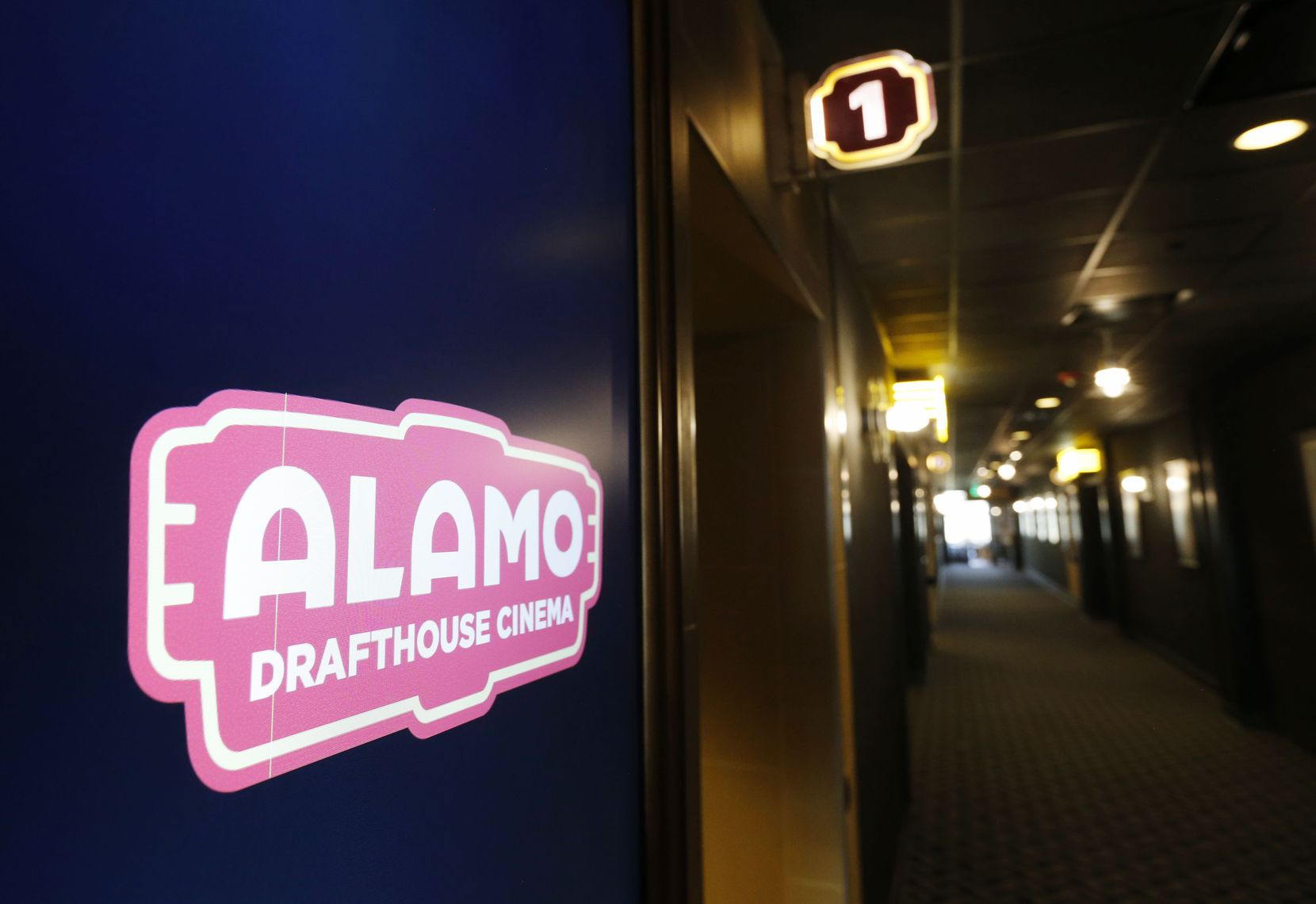 In this 2018 file photo, a hallway at the Alamo Drafthouse Cinema off Abrams Road in Dallas is shown.