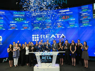Leaders of Reata Pharmaceuticals rang the bell at Nasdaq when the company went public on May 26, 2016.