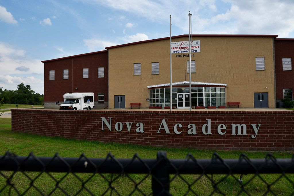 The Nova Charter School in Dallas, June 14, 2019. Donna Houston-Woods, the CEO of the Nova Academy, was convicted of three counts of wire fraud and one count of conspiracy to commit mail and wire fraud by a Dallas jury Friday.