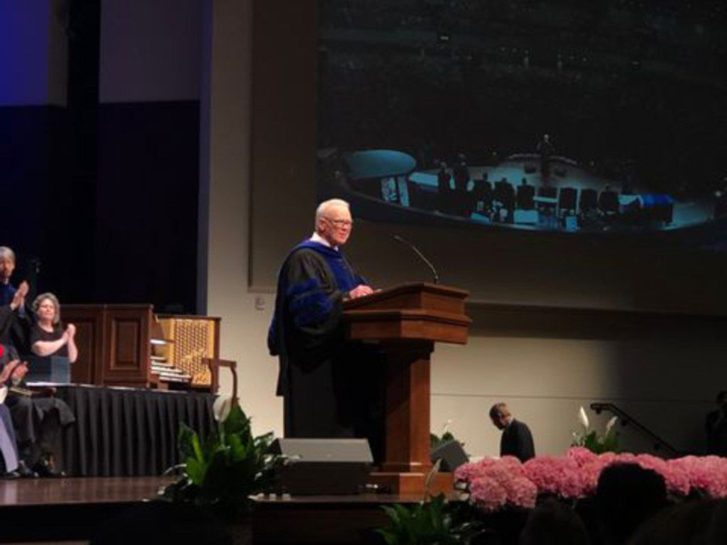 Paige Patterson led Southwestern Baptist Theological Seminary in commencement on May 4, 2018.