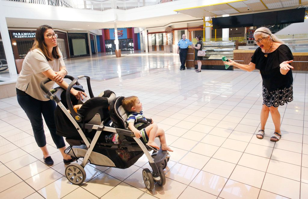 Molly Blonn, who visited Collin Creek Mall Wednesday with her two young sons, and mother, Shawna Kealy, experienced many  teen rites of passage at Plano's Collin Creek Mall. Blonn grew up in Plano, where she and her husband have returned to raise their family.