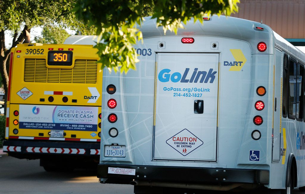 DART's GoLink service waits for customers at the Parker Road transit station in Plano. (Louis DeLuca/The Dallas Morning News)
