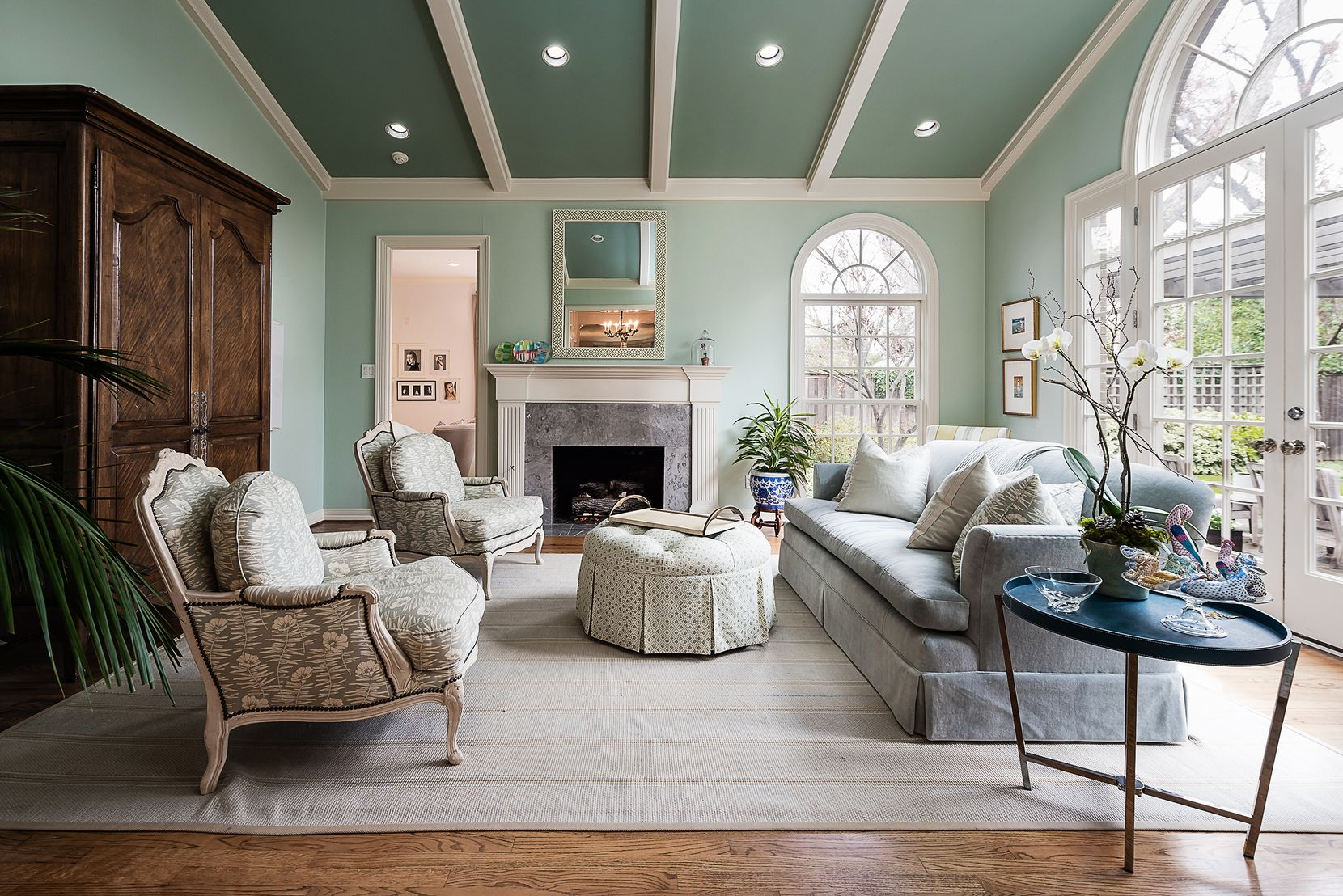 A light-filled living area at 5845 Lupton Drive.
