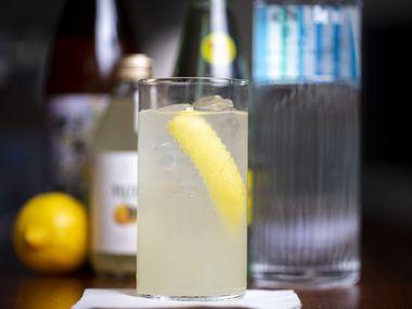Shochu-yuzu cocktail photographed on Wednesday, October 16, 2019 at Salaryman in Dallas. (Shaban Athuman/Staff Photographer)