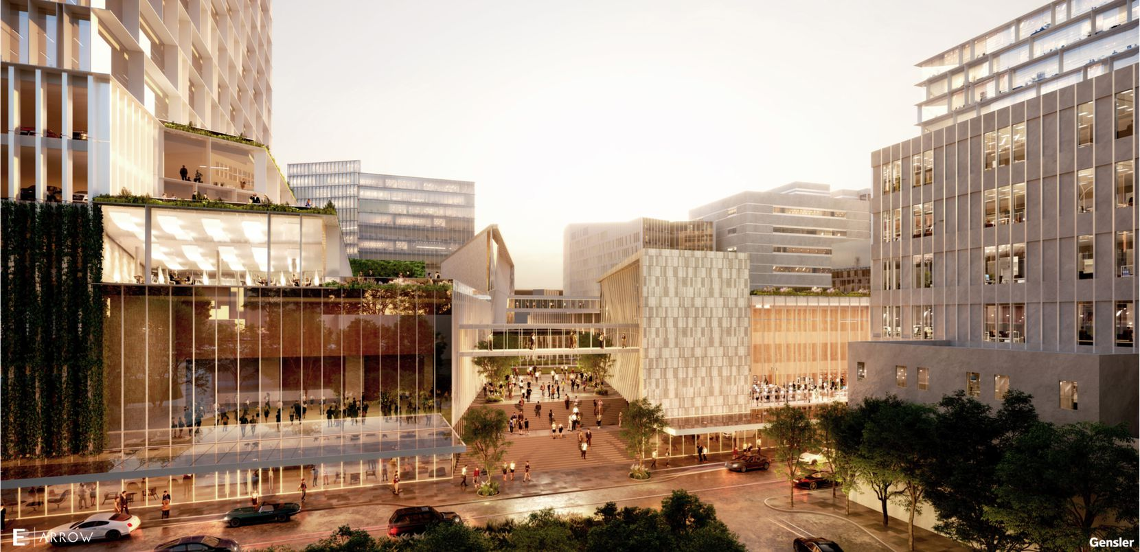 Architect Gensler designed the new development with a mix of buildings.