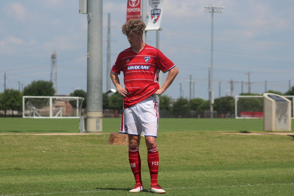 Chris Cappis playing for the FC Dallas U19s