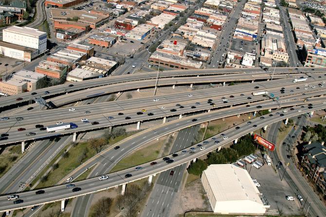 I-345 linking I-45 and Central Expressway.