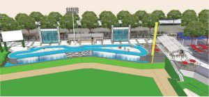 A rendering shows the Choctaw Lazy River, which is shaped like a flattened figure eight. (Frisco RoughRiders)