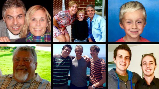 Top, from left: Thomas Kamp and Hannah Johnson; Thomas and Hannah with her son Kade; and Kade. Bottom: Carl Johnson, Hannah's father; Nathan, Thomas and Austin Kamp; and Nathan and Austin.