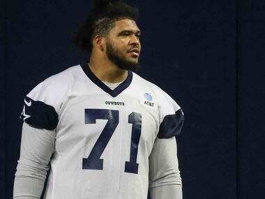 La'el Collins during the Cowboys' full-squad offseason workouts at The Star in Frisco on Tuesday, May 25, 2021.