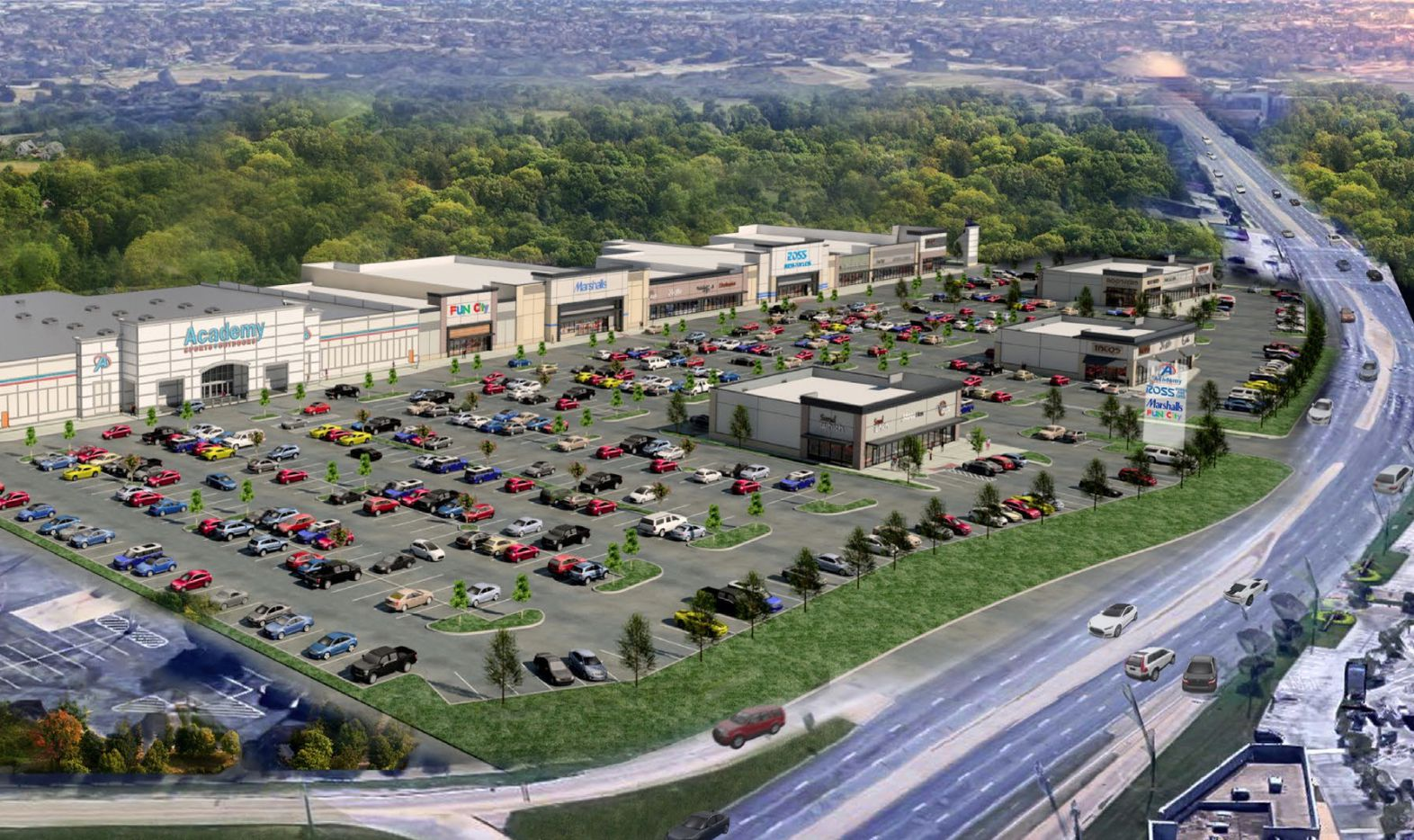 The High Point Crossing shopping center is being built on Northwest Highway just east of U.S. Highway 75.