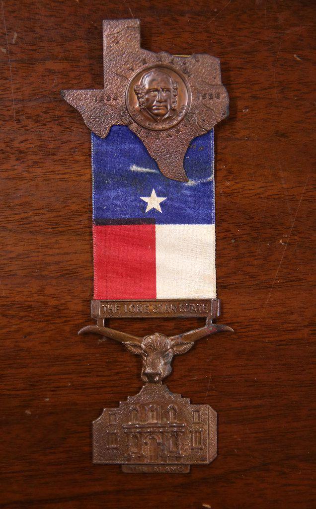 A souvenir pin from the Texas Centennial Exposition in 1936.