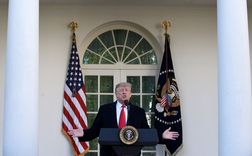 President Donald Trump makes a statement announcing that a deal has been reached to reopen the government through Feb. 15.