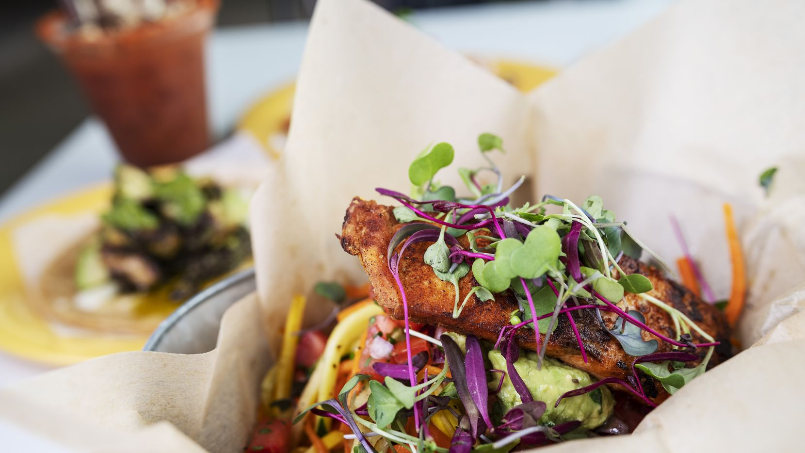 Jesus Carmona's new restaurant Milagro includes lots of seafood and vegetable dishes.