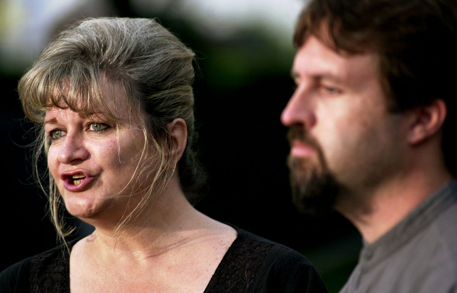 Darlie Kee, Darlie's Routier's mother, spoke during a press conference in front of the Frank Crowley Criminal Courts Building in Dallas on May 21, 2003. Routier is on death row for the 1996 stabbing death of her 5-year-old son. She is also accused of killing her 6-year-old son. Darlie Routier and her family have said from the beginning that an intruder broke into the home and killed the boys and injured her.