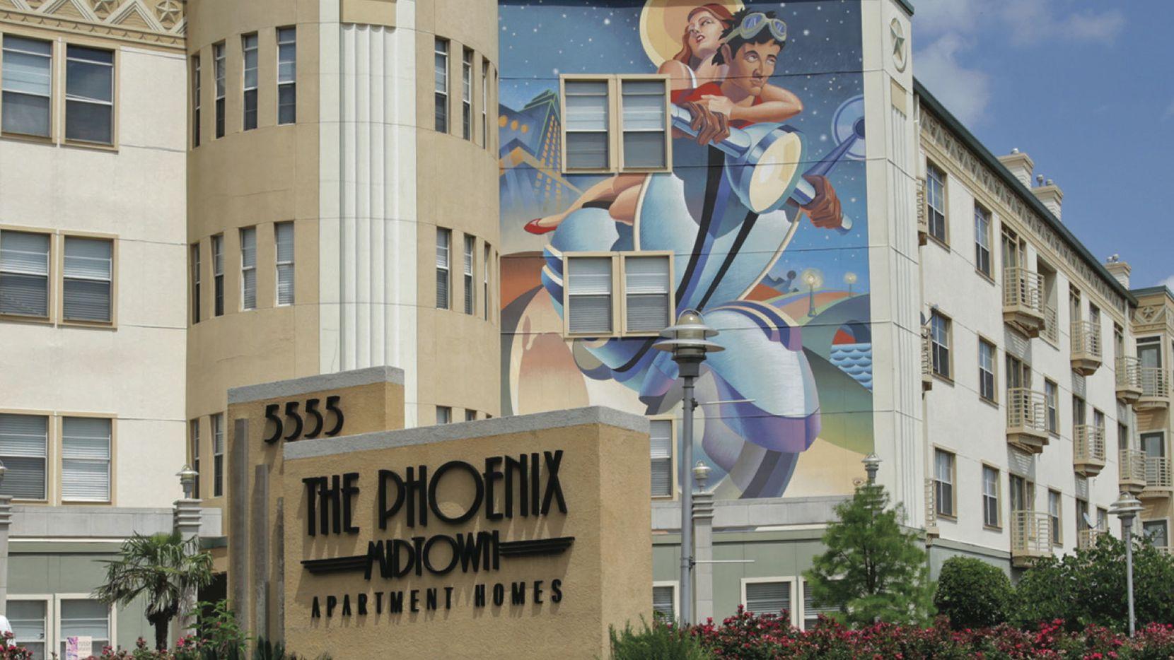 The Phoenix Midtown apartments are next to DART's Mockingbird Station.