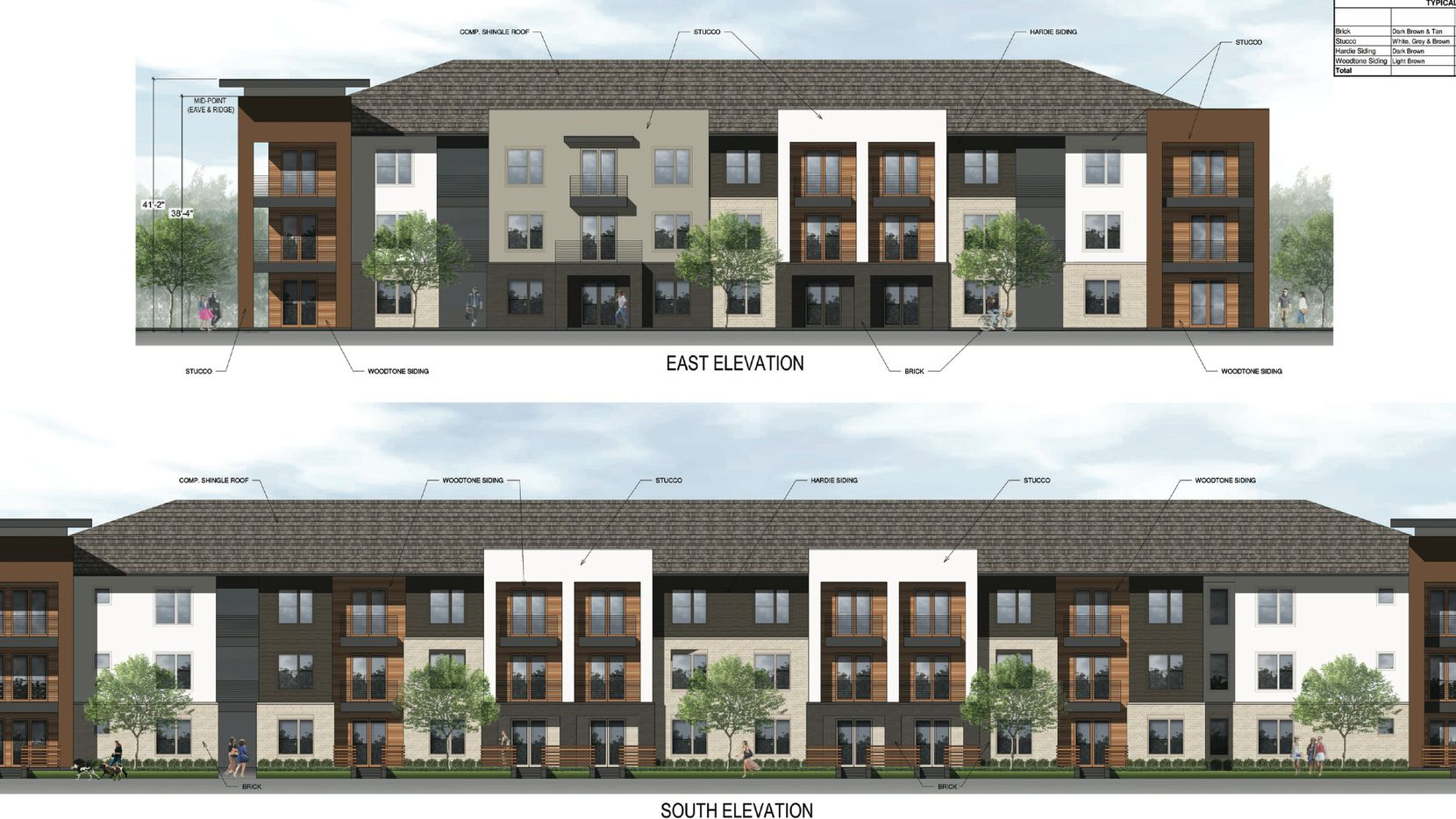 More than 400 apartments are planned in the Hall Park at Richardson project. (Architecture Demarest)