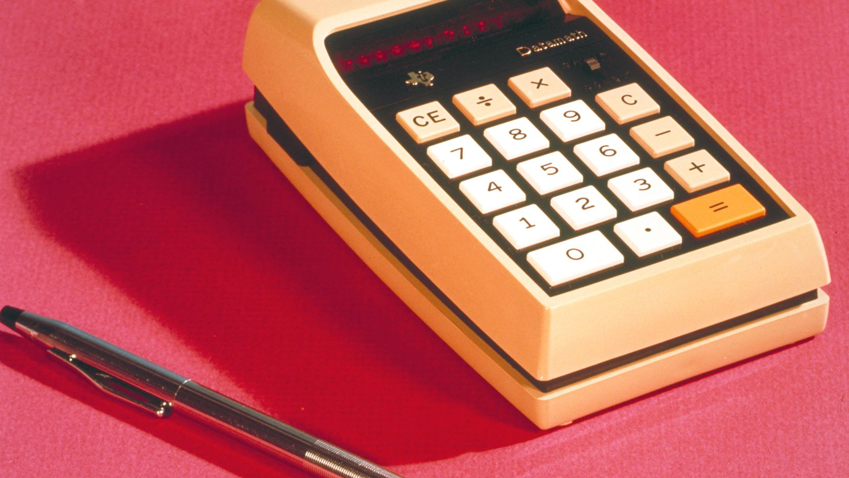 The TI-2500 DataMath, a single-chip calculator with a few basic functions, was introduced in 1972.