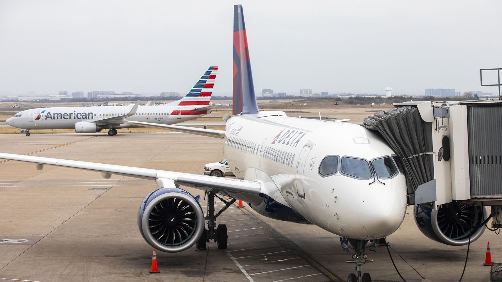American and Delta are in talks with lenders for loans to help the airline's weather the coronavirus pandemic.