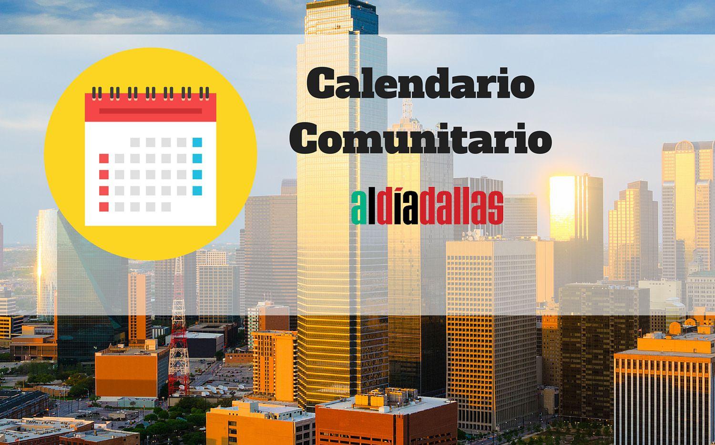 Calendario de eventos comunitarios en el Metroplex.