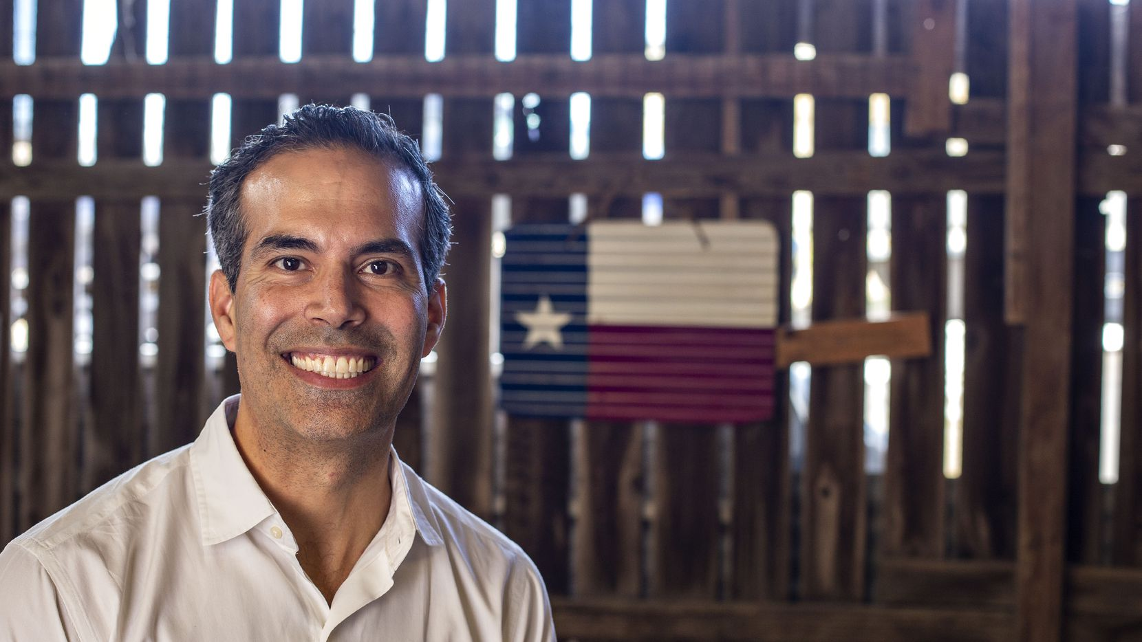 George P. Bush at Valentina's Tex Mex in Austin on Nov. 25, 2019. Some observers see Bush as a future leader of the Republican Party in Texas because of his appeal to a wide array of voters. (Thao Nguyen/Special Contributor)