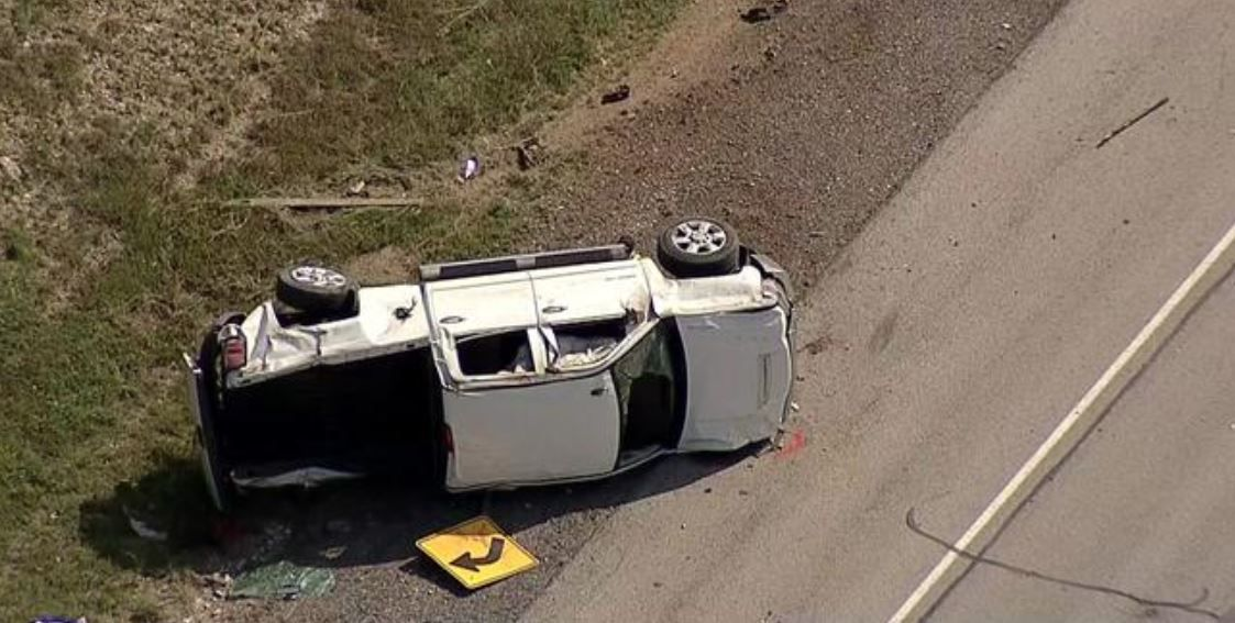 A worker was killed when a pickup slammed into a road crew in West Fort Worth on Tuesday.