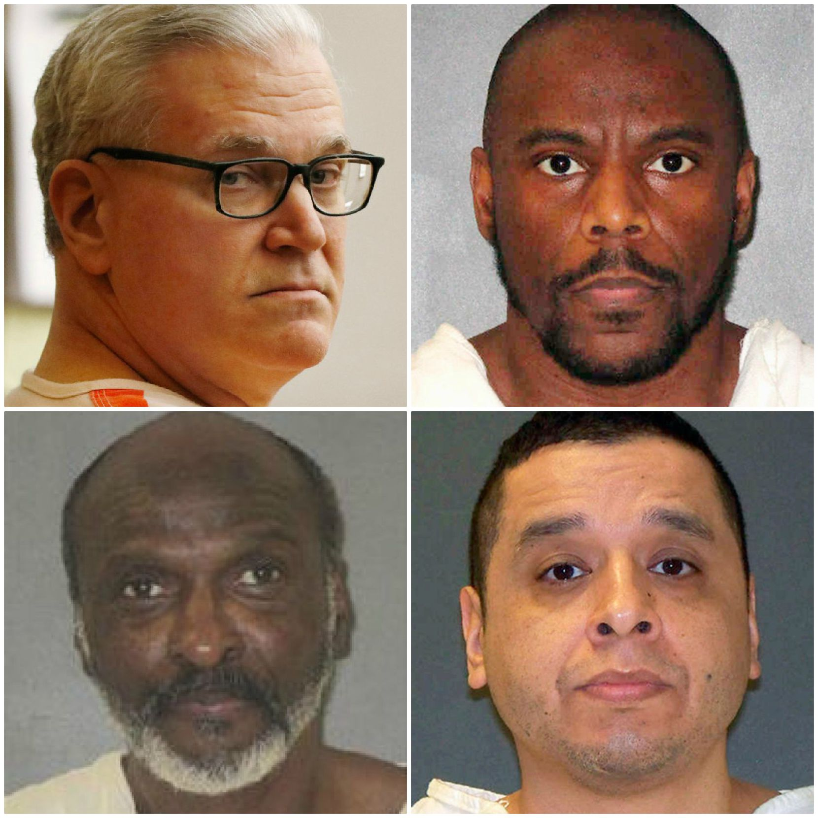 Clockwise from top left: John Battaglia, Alvin Braziel Jr., Joseph Garcia and William Rayford were all executed this year. Each was convicted of capital murder in Dallas County.