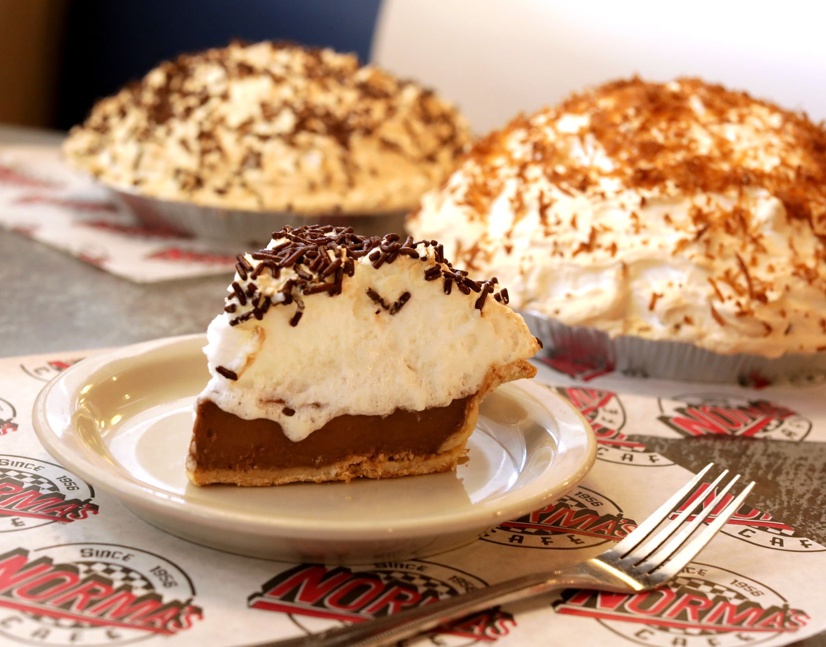 The Chocolate Mile High Pie at Norma's Cafe in Dallas