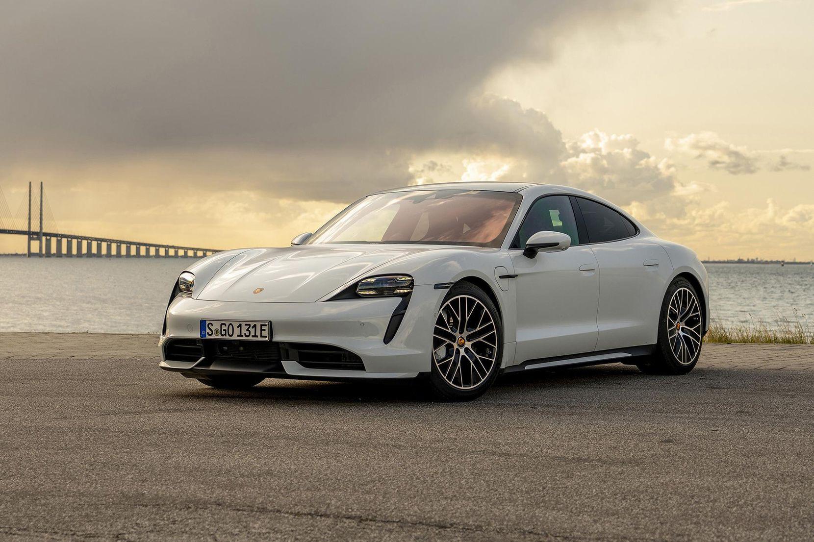 The 2020 Porsche Taycan, Porsche's first all-electric car. (Porsche/TNS)